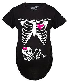 6685b0e8 online shopping for Crazy Dog T-Shirts Maternity Baby Boy Skeleton Cute  Pregnancy Bump Tshirt (Black) from top store. See new offer for Crazy Dog T- Shirts ...
