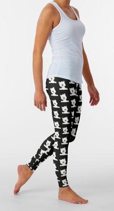 Amazing westie pattern black Leggings outfit for summer, work, and all-day. Pants| Perneiras| ghette| Gamaschen| polainas| legíny|κολάν| sztylpy Fashion 2020, Women's Fashion, Black Leggings Outfit, West Highland White, White Terrier, Summer Work, Westies, Summer Outfits, Amazing