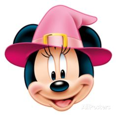 Witch - Minnie Mouse - Halloween Face Mask Novelty - AllPosters.co.uk