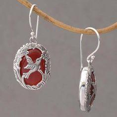 Nature's Freedom Carnelian and Sterling Silver Hummingbird Dangle Earrings Hummingbird Art, Jewelry Packaging, Carnelian, Handcrafted Jewelry, Jewelry Gifts, Dangle Earrings, Freedom, Silver Jewelry, Dangles