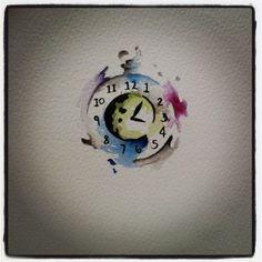 Cool clock tattoo design...