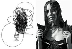 November 2012, Glam goes gothic. Photos by Mario Sorrenti - click on the photo to see the complete story and backstage video