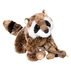 """At 7"""" long, Patch is made of the softest materials with distinctive detail. This cuddly stuffed toy raccoon is a great gift or toy. - Ages: 24 Months & Up - Washing Instructions: Machine Douglas Toys"""