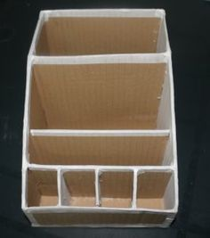 Diy Cardboard Furniture, Cardboard Crafts, Craft Box, Craft Sale, Make Up Organizer, Diy Crafts To Do, Diy Bottle, Diy Box, Recycled Crafts