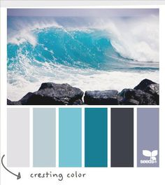 Coastal Decor - Beach Decor Color Palette Surf's Up Girls Bedroom, Master Bedroom, Master Closet, Master Bath, Beach Room, Coastal Living Rooms, Cool Ideas, Am Meer, Home And Deco