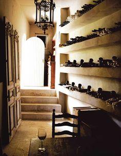 Gorgeous informal wine cellar