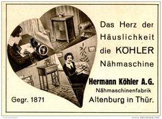 Original-Werbung/ Anzeige 1938 - KÖHLER NÄHMASCHINE / ALTENBURG IN THÜRINGEN - ca. 100 x 75 mm