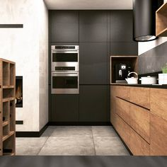 20 Gorgeous Kitchen Design Ideas to Inspire Your Next Remodel - The Trending House Contemporary Kitchen Interior, Modern Kitchen Interiors, Best Kitchen Designs, Minimalist Kitchen, Kitchen Flooring, Bathroom Flooring, Kitchen Cupboards, Cool Kitchens, Kitchen Remodel