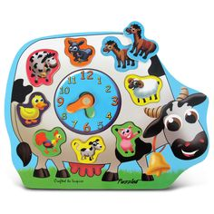 Teaching Clocks   Wooden Clock Puzzle Farm Animals * For More Information,  Visit Image Link. Design