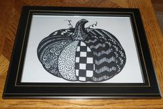 Fall Pumpkin Drawing by IndieGirlCreations on Etsy, $8.00