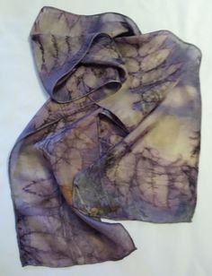 Silk Scarf Naturally Dyed by ArtfullyMade