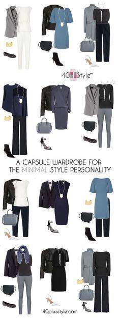 A capsule wardrobe for the minimalist style personality #CapsuleWardrobe