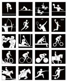 Sports- #Sports pictogram -  Google Search Thumbnail Design, Drawing School, Sports Graphics, School Sports, Sports Art, Interactive Design, Olympic Games, Water Sports, Triathlon