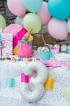 "I'm sure you've stumbled upon your fair share of ""DIY"" birthday parties in your day but let me introduce you to a new category in party planning, ""BIY"". Third Birthday, 4th Birthday Parties, Diy Birthday, Birthday Party Decorations, Cake Birthday, Birthday Ideas, Dessert Party, Party Candy, Ice Cream Theme"