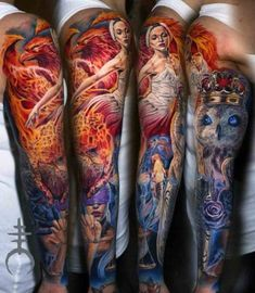 Seven Virtues Tattoo Sleeve | Best Tattoo Ideas Gallery