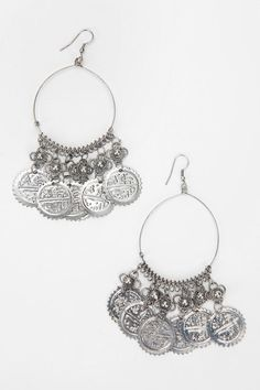 Coin-Topped Hoop Earring  $7   #UrbanOutfitters
