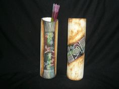 Cerámica artesanal Bottle, Porta Velas, Decorated Bottles, Flask, Jars