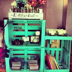 1000 images about deco cajas on pinterest crates fruit - Cajas de madera recicladas ...