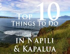 Northwest Maui is one of the most beautiful areas of the island. Please enjoy our list of the Top 10 Things to Do in Napili & Kapalua! Go Hawaii, Hawaii Honeymoon, Hawaii Vacation, Visit Hawaii, Honeymoon Destinations, Kapalua Maui, Maui Activities, Best Beaches To Visit, West Maui