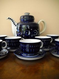 @Sarah Chintomby Quinn Set of 4 Vintage Arabia Finland Valencia Ulla by Modernaire, $120.00