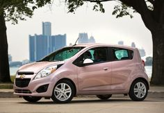 Lauren's car ~ The Chevy Spark. In Techno Pink of course! Chevrolet Spark, Chevy Chevrolet, My Dream Car, Dream Cars, Barbie Car, Dogs Up For Adoption, Beetle Car, Suv Cars, Dreams