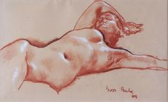 Works on Paper - Ivor Henry Thomas Hele - Page 3 - Australian Art Auction Records Figure Painting, Painting & Drawing, Henry Thomas, Drawing Studies, Modeling Poses, Anatomy Drawing, Australian Art, Life Drawing, Cool Drawings
