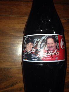 Dale Earnhardt Sr. and Jr. 1998 Racing Family Coca-Cola Full bottle  Coke Nascar