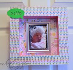 How to make a Pretty Shadow Box for baby nursery @plaidcrafts #madewithmichaels #plaidcrafts