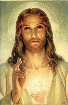 Sacred Heart of Jesus Pictures Of Jesus Christ, Religious Pictures, Heart Of Jesus, Jesus Is Lord, Jesus E Maria, Saint Esprit, Christian Images, Jesus Face, In Christ Alone