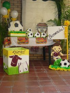 DECORACION DE FIESTA MOTIVO FÚTBOL. | Fiestas Infantiles | Pinterest