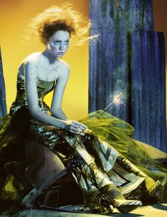 so poetic - lily cole photographed by miles aldridge