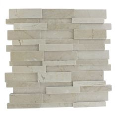 illusion 3d pattern brick crema marfil - shop glass tiles at glasstilestore.com This could be perfect for the bathroom with wood border and grey/taupe paint on half wall