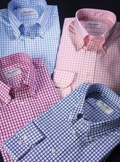 Grid Check Button Down Shirts