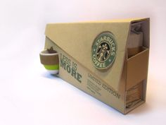 Starbucks Less Is More (Student Work) on Packaging of the World - Creative Package Design Gallery This would make me start drinking coffee *smiles* Starbucks Specials, Green Marketing, Coffee Logo, Coffee Cafe, Coffee Humor, Cool Packaging, Coffee Packaging, Packaging Ideas, Cardboard Packaging