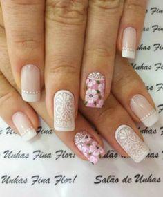 Bride Nails, Get Nails, About Hair, Nail Arts, Manicure And Pedicure, Nail Art Designs, Beauty Hacks, Lily, Make Up