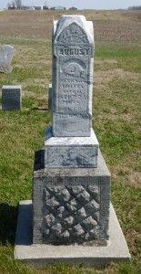August J Trisel, East Bethel Cemetery, Blackcreek Township, Mercer County, Ohio. (2016 photo by Karen) #genealogy