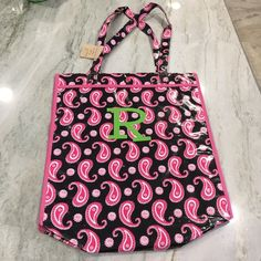 """R"" Tote Waterproof tote. Perfect for all those summer days! Bags Totes"