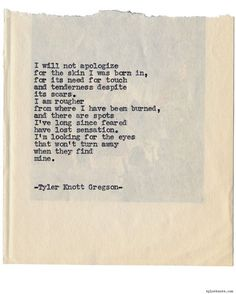 Typewriter Series #1109 by Tyler Knott Gregson*Chasers of the...