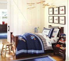 Airplane bedding-Red, white blue theme-love it!