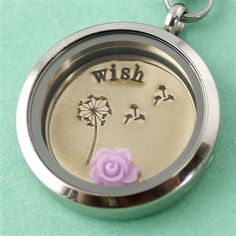 Rose Floating Locket Charm - Spiffing Jewelry. http://gottahave.origamiowl.com
