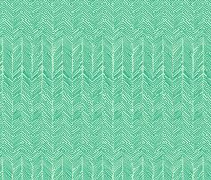 freeform arrows in mint fabric by domesticate on Spoonflower - custom fabric $17.50/yd. !!!