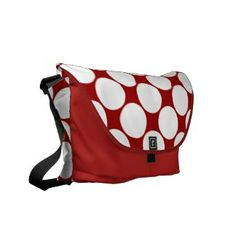 Red and White Polka Dot Pattern Diaper Bag Courier Bags Custom Messenger Bags, Cool Messenger Bags, Pack Your Bags, Baby Diaper Bags, Personalized Christmas Gifts, Red And White, Polka Dots, Pattern, Model