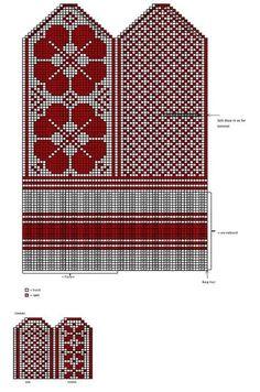 New knitting mittens selbu Ideas Knitting Charts, Baby Knitting Patterns, Crochet Patterns, Knitting Machine, Crochet Mittens Free Pattern, Knit Mittens, Tapestry Crochet, Crochet Stitch, Simple Crochet