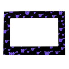 Shop Black & Purple Kitty Pattern Magnetic Frame created by thepawkinglot. Magnetic Picture Frames, Creature Comforts, Cherished Memories, Succulents Diy, Business Supplies, Pet Shop, Printing Process, Colorful Backgrounds, Magnets