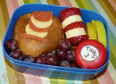 A Cat in the Hat Dr Seuss bento for my Son.