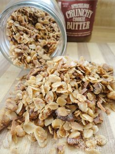 Cookie Butter Walnut Granola- see the recipe on Frugal Foodie Mama