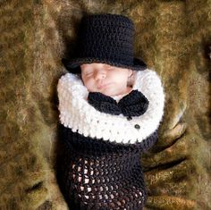 Gentleman sleeping bag Hand knitted wool clothes photo prop one hundred days newborn baby photography baby clothes joker pictures clothes
