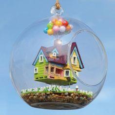DIY House Flying House Glass Ball With Lamp Handmade Wooden Toys - US$16.99 - Banggood Mobile