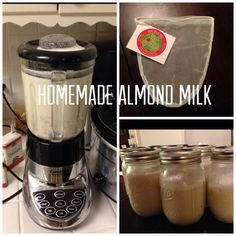 How to Make Your Own Almond Milk..ill deff be making this instead of buying it now!!!