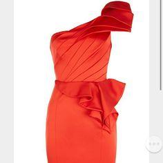 Karen millen red dress. Karen millen red dress. Sz UK 12, US SZ 8. Worn once, after dry clean. Karen Millen Dresses One Shoulder